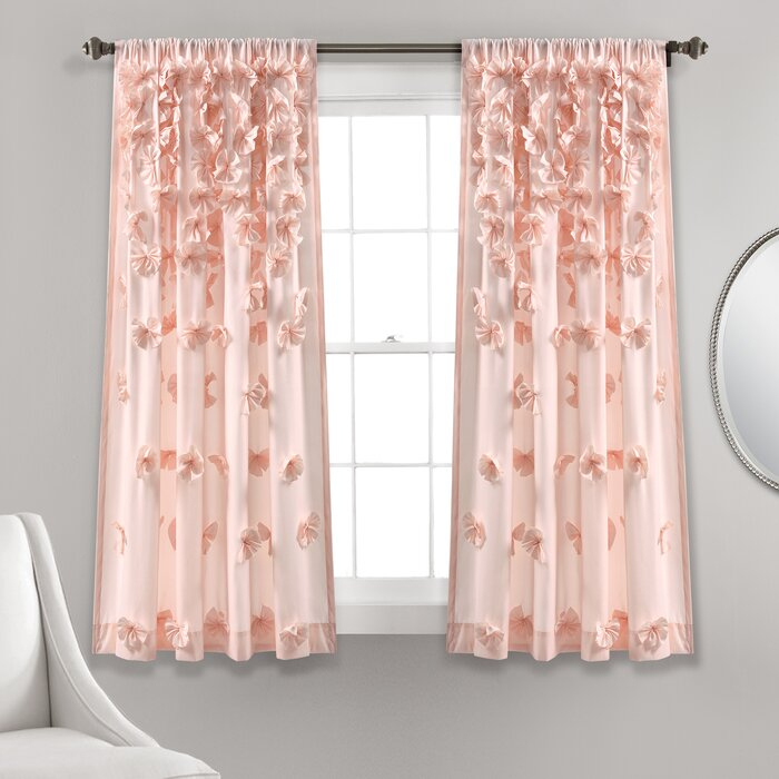 Clarkstown Solid Sheer Rod Pocket Curtain Panel Intended For Rod Pocket Curtain Panels (View 9 of 34)