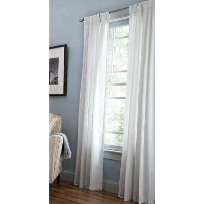 Classic Cotton Light Filtering Window Panel In Pure White – 50 In. W X 84  In (#10 of 40)