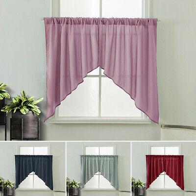 "Classic Hotel Quality 36""w X 54""l Fabric Bathroom Window In Classic Hotel Quality Water Resistant Fabric Curtains Set With Tiebacks (#4 of 50)"