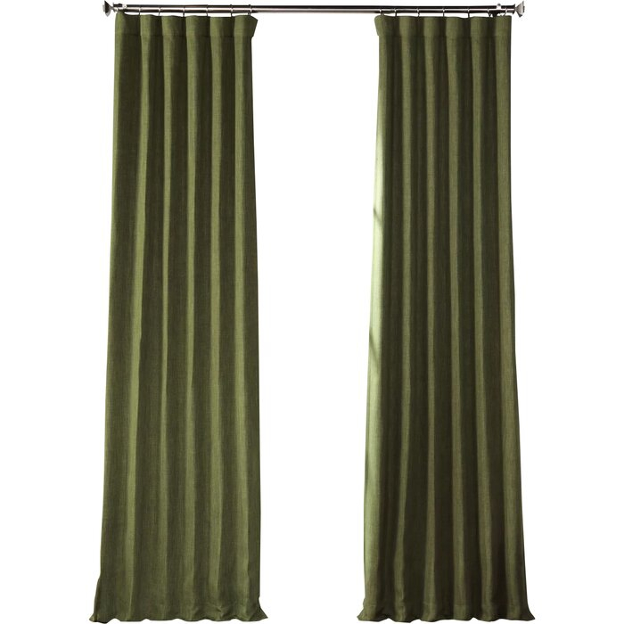 Clem Blackout Rod Pocket Single Curtain Panel Throughout Single Curtain Panels (View 27 of 36)