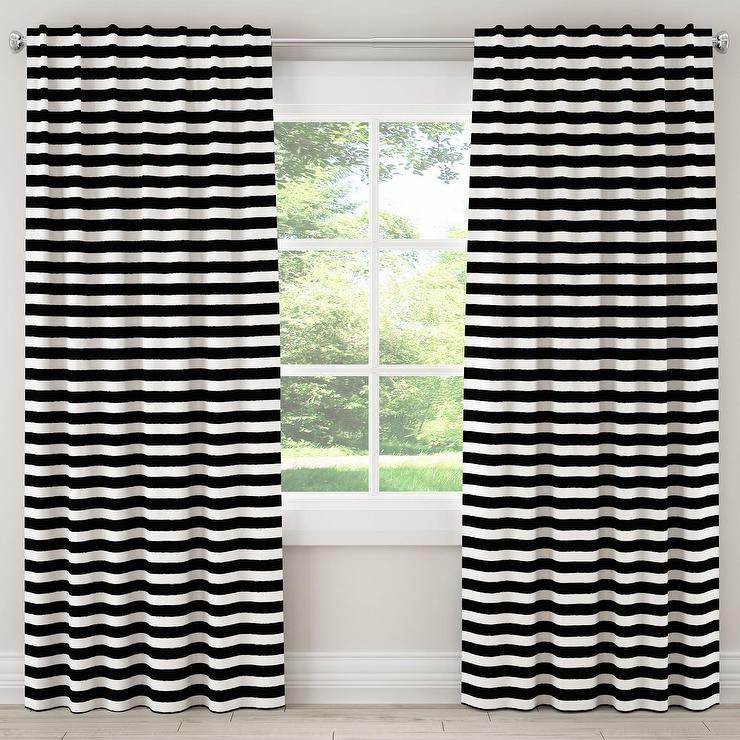 Cloth And Co Black White Striped Blackout Curtain With Regard To Keyes Blackout Single Curtain Panels (View 19 of 50)
