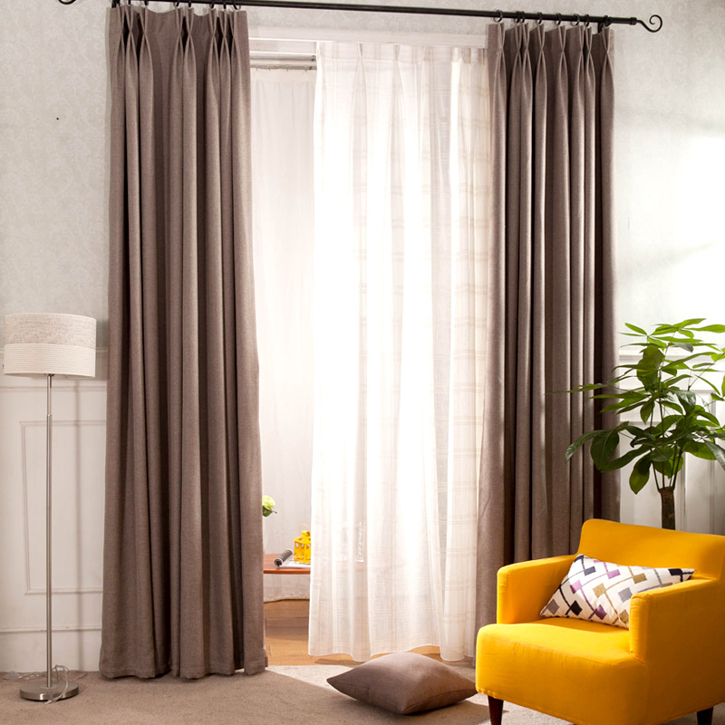 Coffee Solid Cotton/linen Curtain Panels Eco Friendly Pertaining To Solid Cotton Curtain Panels (#13 of 47)