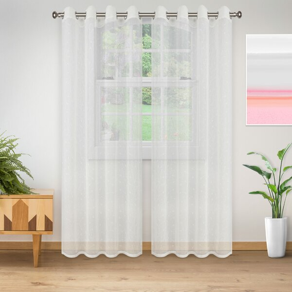 Colena Lightweight Delicate Flower Sheer Grommet Curtain Panels With Luxury Collection Cranston Sheer Curtain Panel Pairs (View 14 of 42)