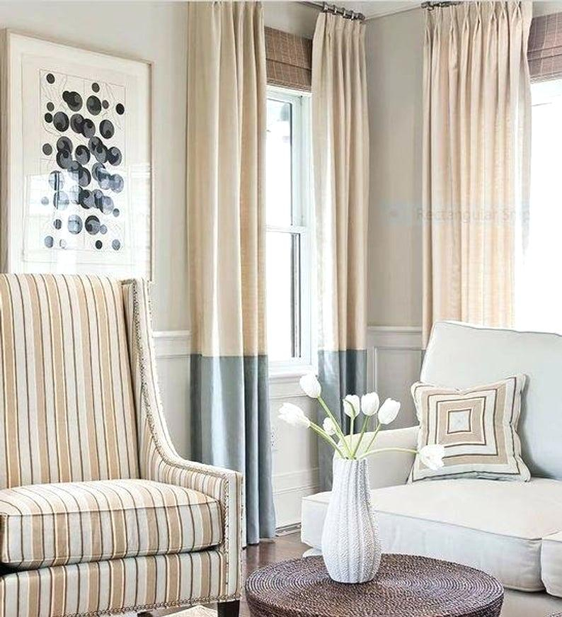 Color Block Drapes – Friendlyeliteflooring With Regard To Linen Button Window Curtains Single Panel (#12 of 40)