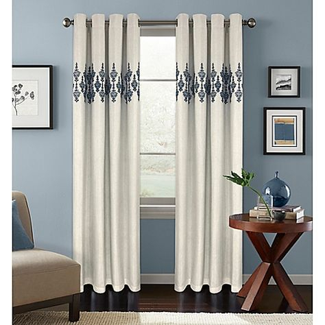 Colordrift Jade Room Darkening Grommet Top Window Curtain Inside Sunsmart Abel Ogee Knitted Jacquard Total Blackout Curtain Panels (View 3 of 19)