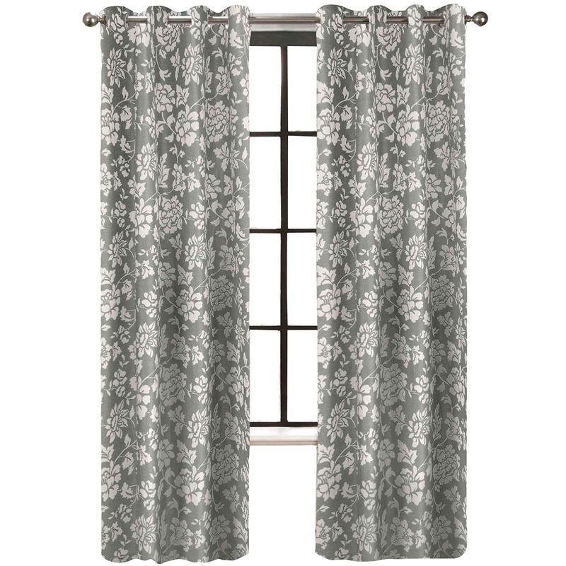 Colordrift Penelope Faux Silk Grommet Top Curtain Panel With Regard To Softline Trenton Grommet Top Curtain Panels (View 4 of 50)