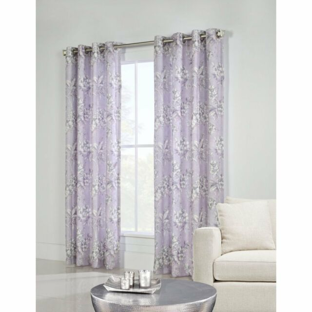"""Commonwealth Caldwell 84"""" Grommet Curtain Panel In Purple Within Caldwell Curtain Panel Pairs (View 3 of 27)"""
