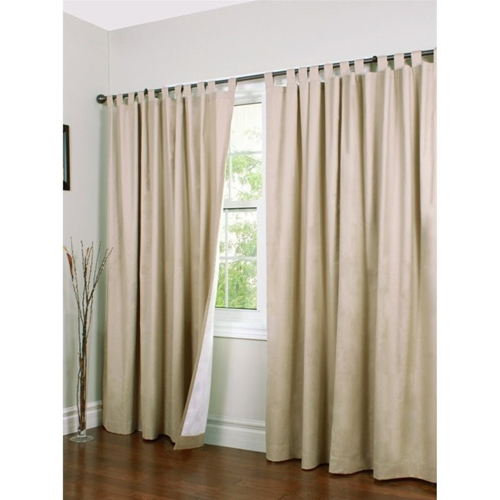 """Commonwealth Weathermate 84"""" Tab Curtain Panel In Khaki (Set Of 2) Pertaining To Insulated Cotton Curtain Panel Pairs (#12 of 50)"""