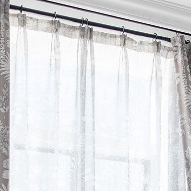 Contemporary Light Filtering One Panel Sheer Living Room Inside Light Filtering Sheer Single Curtain Panels (View 19 of 38)