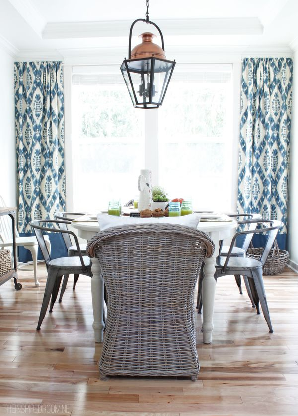 Cool White Ikat Curtains Designs With Black Printed Cotton Inside Ikat Blue Printed Cotton Curtain Panels (#12 of 50)