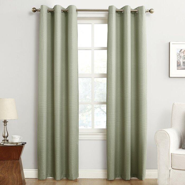 Cooper Textured Solid Blackout Thermal Grommet Single Curtain Panel Regarding Cooper Textured Thermal Insulated Grommet Curtain Panels (View 9 of 50)