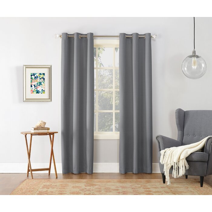Cooper Textured Solid Room Darkening Thermal Grommet Single Curtain Panel Within Cooper Textured Thermal Insulated Grommet Curtain Panels (View 11 of 50)