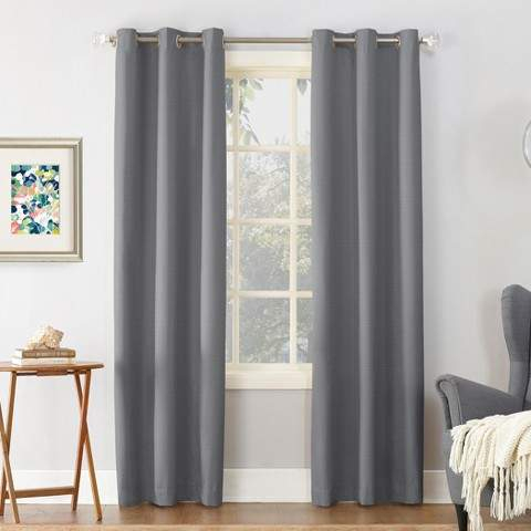 Cooper Textured Thermal Insulated Grommet Top Room Darkening Window Curtain  Panels For Duran Thermal Insulated Blackout Grommet Curtain Panels (#6 of 29)