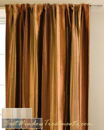 Copper Curtains Panels | Flisol Home In Copper Grove Fulgence Faux Silk Grommet Top Panel Curtains (View 14 of 50)