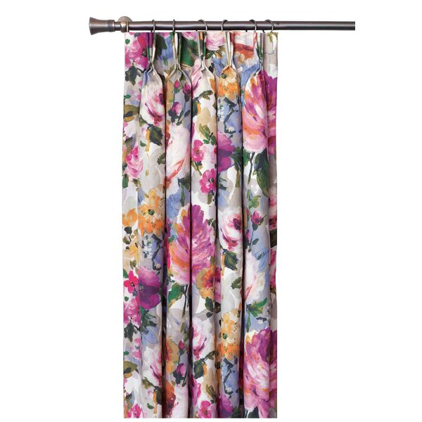 Cora Floral Pinch Polyester Single Curtain Panel Regarding The Gray Barn Kind Koala Curtain Panel Pairs (View 7 of 50)