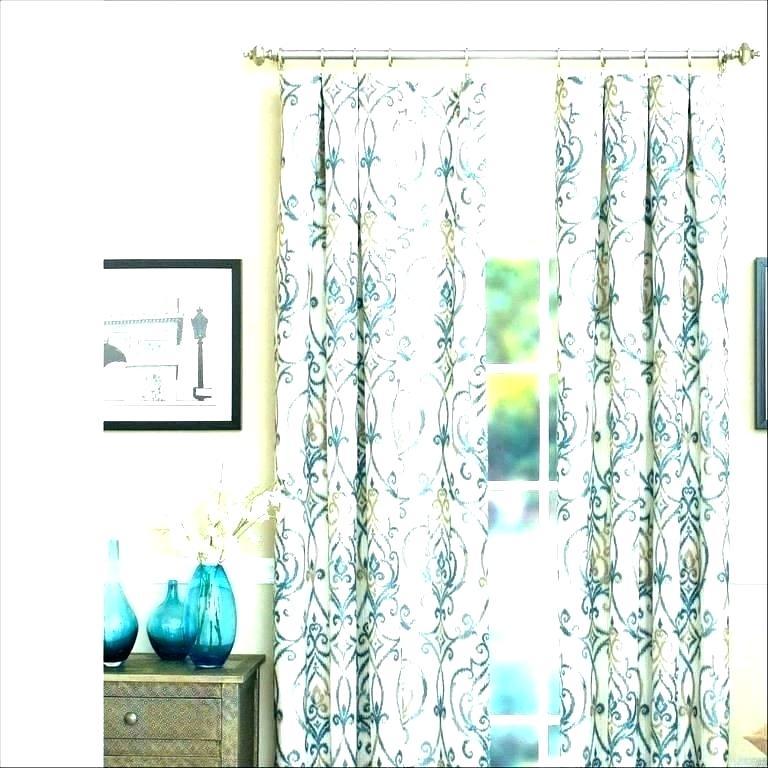 Coral Chevron Curtains Teal Orange Curtain Panel – Hipley (#11 of 50)