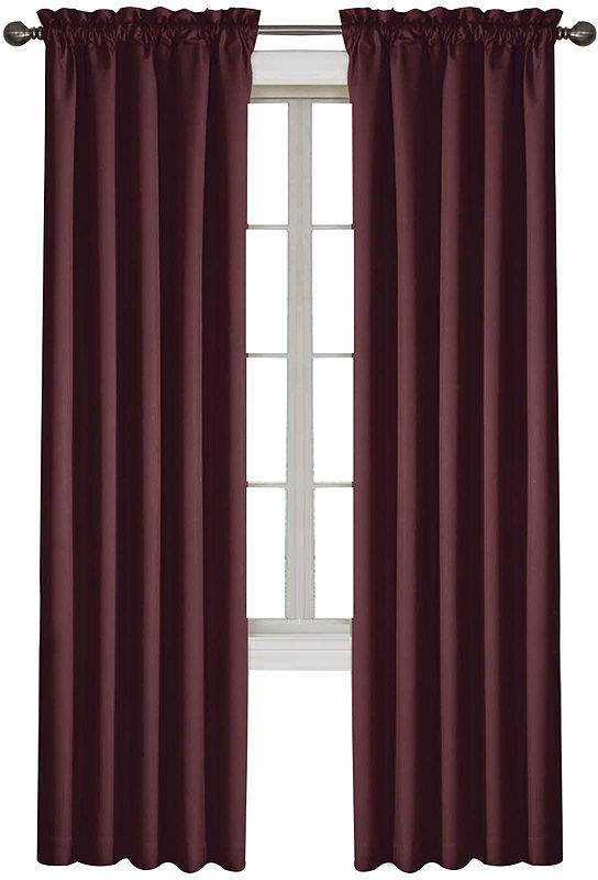 Corinne Rod Pocket Blackout Curtain Panel For Eclipse Corinne Thermaback Curtain Panels (View 13 of 29)