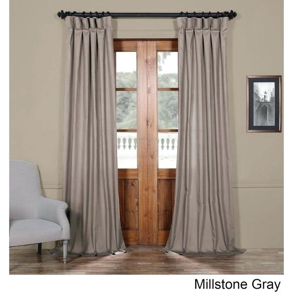 Cotton Curtains Regarding Solid Country Cotton Linen Weave Curtain Panels (#5 of 50)