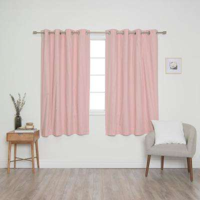 Cotton – Pink – Curtains & Drapes – Window Treatments – The Intended For Solid Cotton Curtain Panels (#15 of 47)
