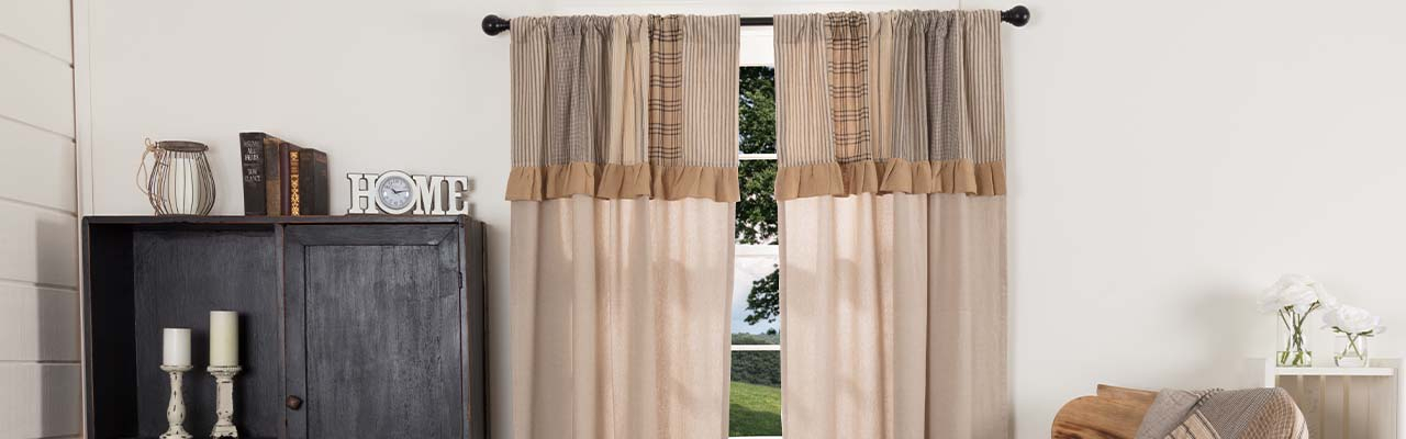 Country Themed Curtains In Lydia Ruffle Window Curtain Panel Pairs (View 38 of 43)