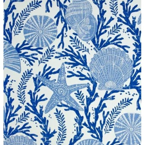 Cove Shells And Starfish Indoor Outdoor Fabricp Kaufmann Inside Matine Indoor/outdoor Curtain Panels (#7 of 50)