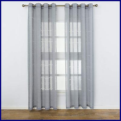 Crate & Barrel Linen/sheer Curtain – $ (View 18 of 50)