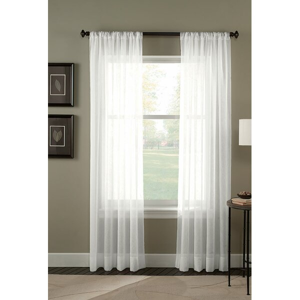 Crinkle Curtains | Wayfair In Extra Wide White Voile Sheer Curtain Panels (View 6 of 50)