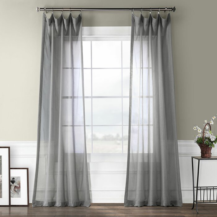 Cristopher Solid Sheer Rod Pocket Single Curtain Panel Intended For Emily Sheer Voile Single Curtain Panels (View 4 of 41)