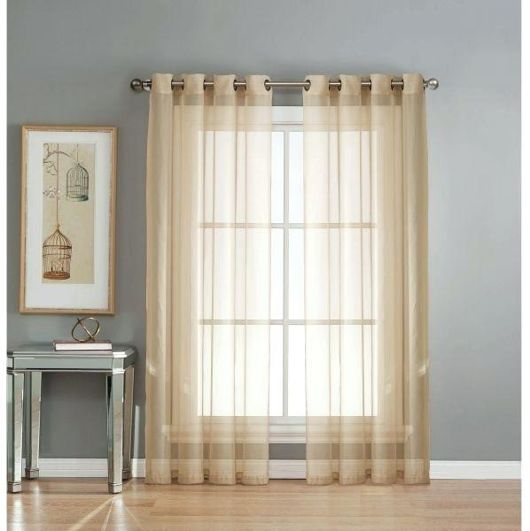 Crushed Sheer Voile Curtains Regarding Andorra Watercolor Floral Textured Sheer Single Curtain Panels (View 9 of 46)