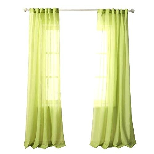 Crushed Sheer Voile Curtains Throughout Erica Sheer Crushed Voile Single Curtain Panels (#7 of 41)