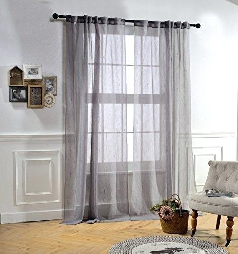Crushed Voile Curtains Bed Bath And Beyond Sheer Curtain For Erica Sheer Crushed Voile Single Curtain Panels (#10 of 41)