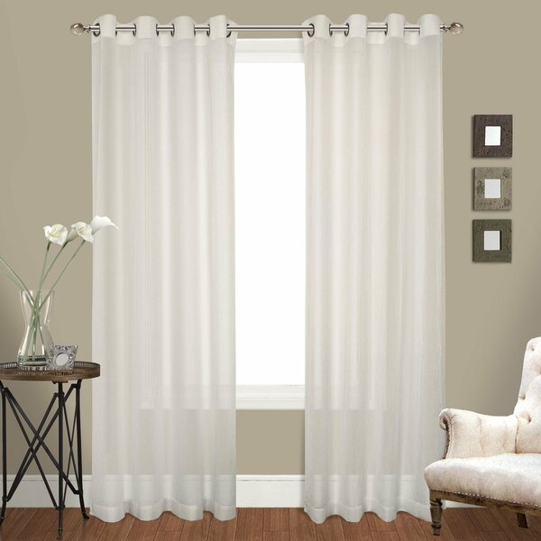 Crushed Voile Sheer Curtains | Wayfair In Extra Wide White Voile Sheer Curtain Panels (View 7 of 50)