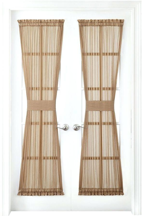 Crushed Voile Sheer Panel Royal Velvet Rod Pocket Door With Erica Sheer Crushed Voile Single Curtain Panels (#17 of 41)