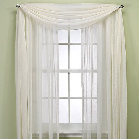 Crushed Voile Sheer Rod Pocket Window Curtain Panel, 144 With Kaylee Solid Crushed Sheer Window Curtain Pairs (#9 of 40)