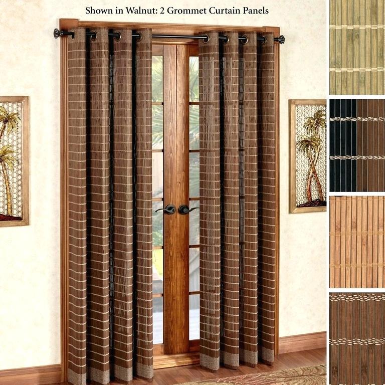 Curtain For Glass Doors – Flavorboner With Inez Patio Door Window Curtain Panels (#6 of 50)