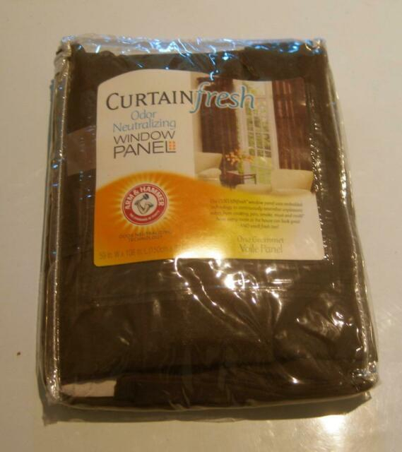 Curtain Fresh Arm And Hammer Odor Neutralizing Sheer Panel, 59x108, Brown In Arm And Hammer Curtains Fresh Odor Neutralizing Single Curtain Panels (View 14 of 50)
