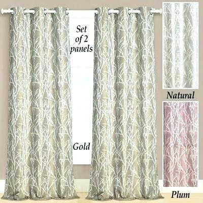 Curtain Pairs Within Twig Insulated Blackout Curtain Panel Pairs With Grommet Top (#20 of 50)