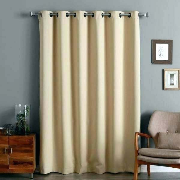 Curtain Panel Pair Aurora Home Inch Wide Width Thermal Pertaining To Thermal Insulated Blackout Grommet Top Curtain Panel Pairs (#17 of 50)