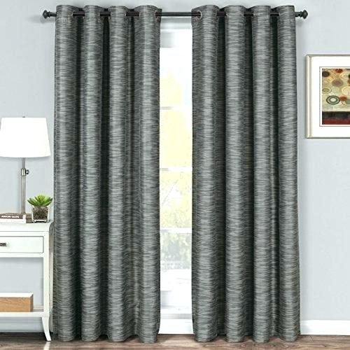 Curtain Panel Pair Aurora Home Silver Grommet Top Thermal Inside Thermal Insulated Blackout Grommet Top Curtain Panel Pairs (#18 of 50)