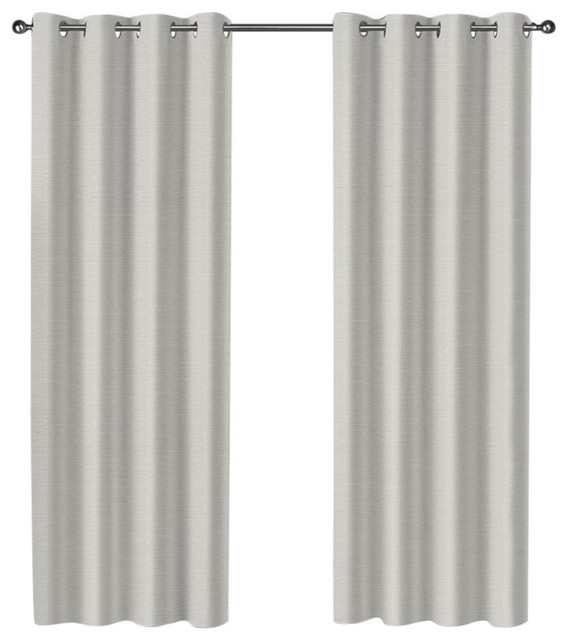 """Curtain Panel Pair, Set Of 2, Vanilla, 52""""x84"""" Inside Woven Blackout Curtain Panel Pairs With Grommet Top (#10 of 42)"""