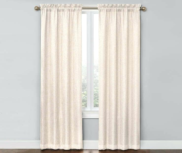 Curtain Panel Pairs Beige Blackout Pair At Big Lots With Regard To Abstract Blackout Curtain Panel Pairs (#13 of 46)