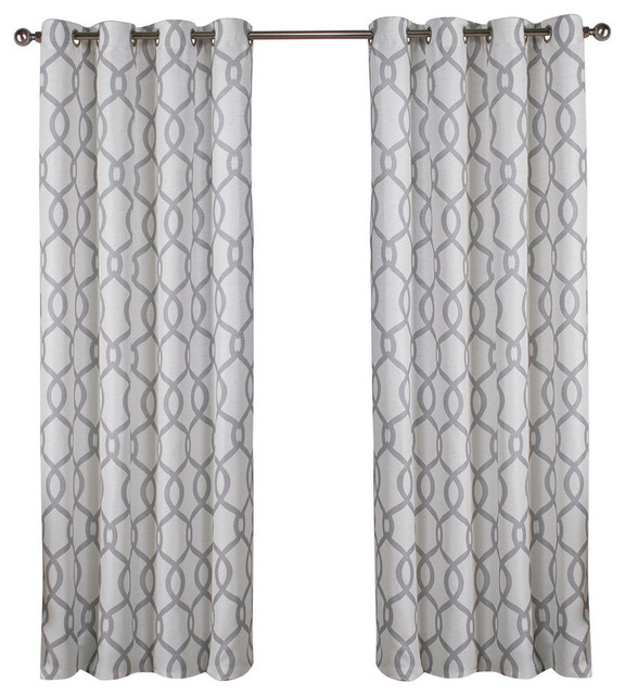 "Curtain Panel, Set Of 2, Dove Gray, 54""x63"" With Regard To Kochi Linen Blend Window Grommet Top Curtain Panel Pairs (#5 of 36)"