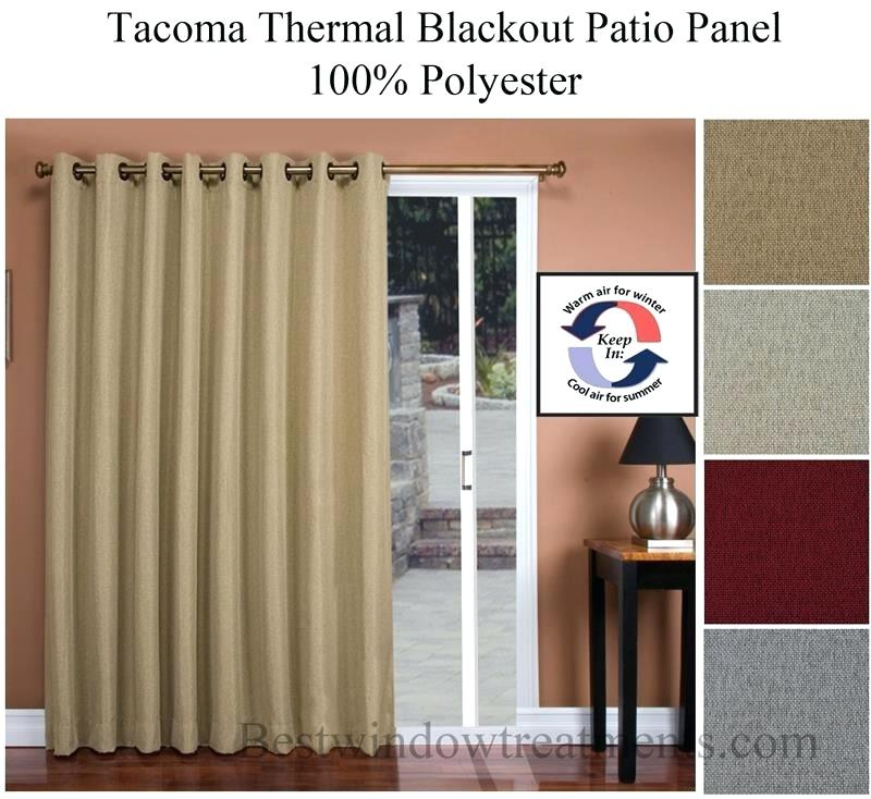 Curtain Panel Width – Ultralighttent Within Tacoma Double Blackout Grommet Curtain Panels (View 9 of 48)