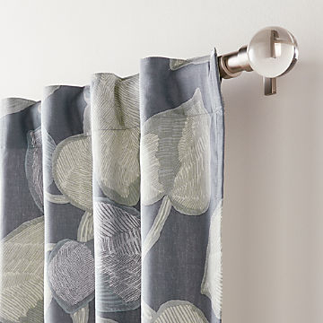 Curtain Panels And Window Coverings | Crate And Barrel For Hayden Rod Pocket Blackout Panels (View 12 of 43)