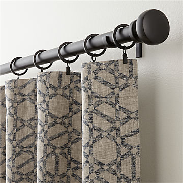 Curtain Panels And Window Coverings | Crate And Barrel For Hayden Rod Pocket Blackout Panels (View 11 of 43)