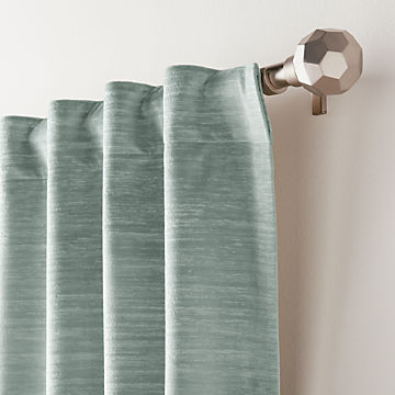 Curtain Panels And Window Coverings | Crate And Barrel For Total Blackout Metallic Print Grommet Top Curtain Panels (#3 of 50)