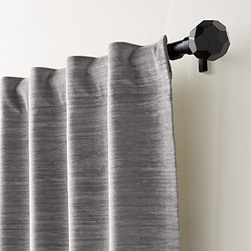 Curtain Panels And Window Coverings | Crate And Barrel With Hayden Grommet Blackout Single Curtain Panels (View 8 of 39)