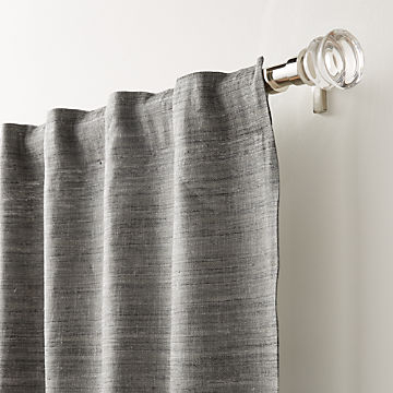 Curtain Panels And Window Coverings | Crate And Barrel With Regard To Hayden Rod Pocket Blackout Panels (#13 of 43)