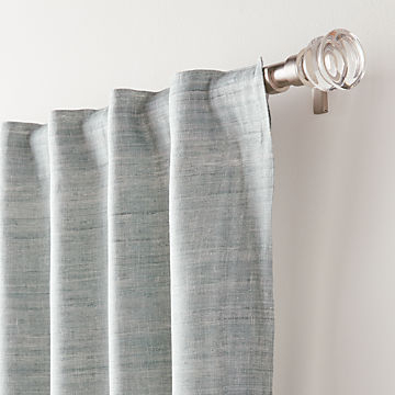 Curtain Panels And Window Coverings   Crate And Barrel With Regard To Pastel Damask Printed Room Darkening Grommet Window Curtain Panel Pairs (#12 of 50)