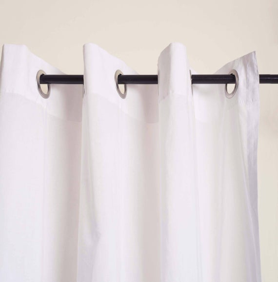 Curtain, Sheer, Cotton Voile, White, Window Panel, Home Decor, Sizes Available Pertaining To Davis Patio Grommet Top Single Curtain Panels (View 38 of 39)